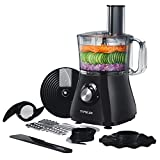 TOPELEK 500W Food Processor, 8 Cup, 2-Speed Blender, Chopper, Multi Accessories with S-Blade