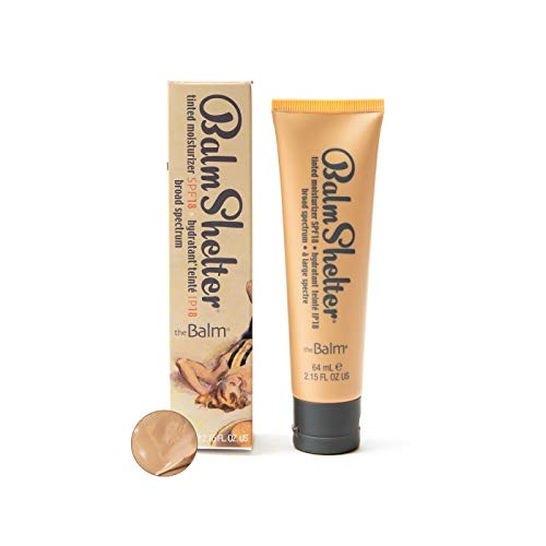 BalmShelter Silky-Smoth Tinted Moisturizer, Medium, Polished Complexion, Weightless, SPF 18, 2.15 Fl Oz
