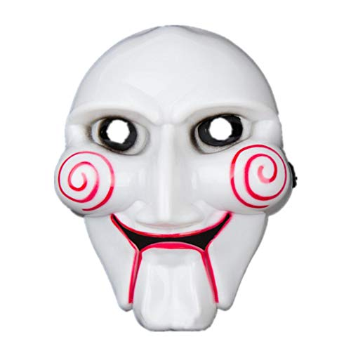 Respctful Halloween Costume, Funny Adult little Scary Ghost Mask for Party Cosplay (White) ()