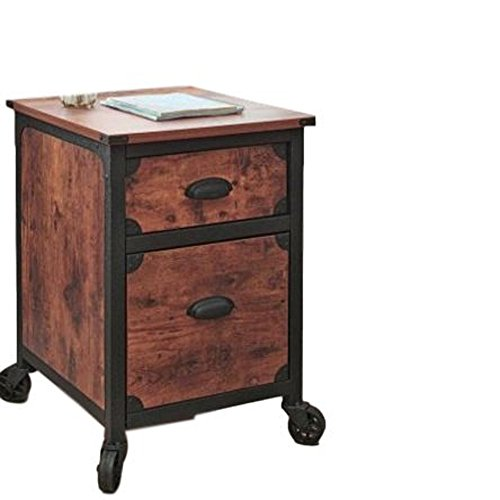 Portable File Cabinet Drawer Filing Cabinet Metal Frame Organizer Rolling Small Vertical Storage Document Office Desk Classic Rustic Furniture & Ebook by Easy2Find. Review