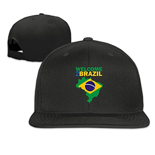 Ladies Club Hat Welcome Flag (Unisex Welcome To Brazil Adjustable Snapback Trucker Cap Navy One Size)