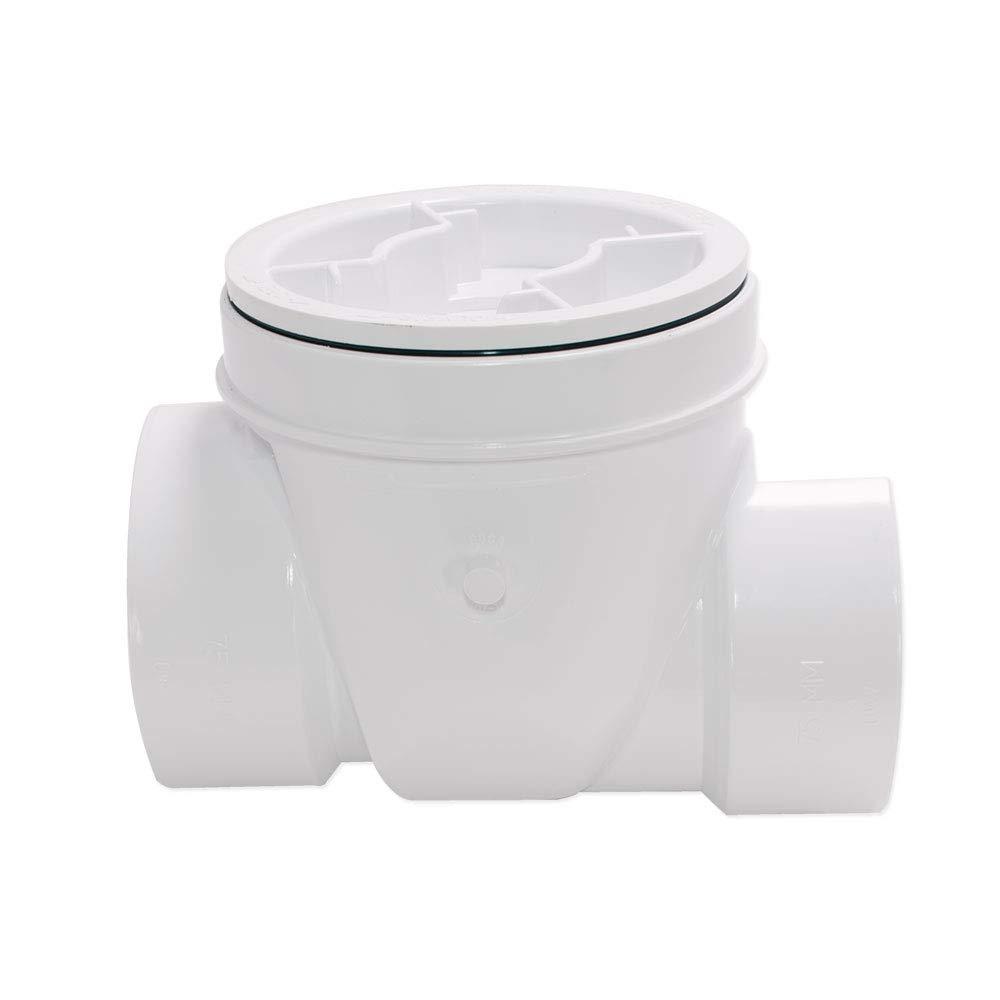 Canplas 73008 Backwater Valve, 3-Inch PVC, White by Canplas (CANPE)