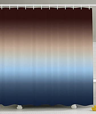 Curtains Ideas blue ombre shower curtain : Ombre Shower Curtain by Ambesonne, Home Decorations Art Bathroom ...