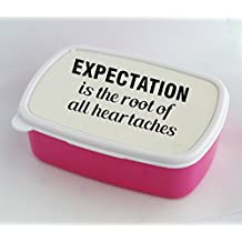 Lunch box with Expectation is the root of all heartache