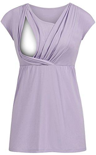 Top Breastfeeding Lungo Gogofuture Allattamento Infermieristica Manica Maternity Shirt Corta Elegante Camicetta Donna Blu Blusa T Bluse Camicetta Autunno Maglietta Camicia SwgZSPq