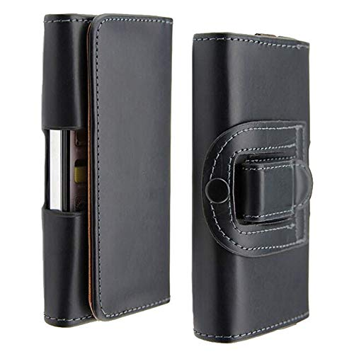 - Black Case Fit for Smartphone iPhone Xs Max Universal Waist Belt Holster Pouch Clip Leather Cover fit for iPhone 6 6s Plus 7 8 Plus Huawei P9 Holster Phone Case 6.3'' x 3.23'' x 0.5''