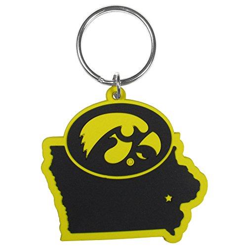 Siskiyou NCAA Iowa Hawkeyes Home State Flexi Key Chain - Iowa Hawkeyes Logo Keychain