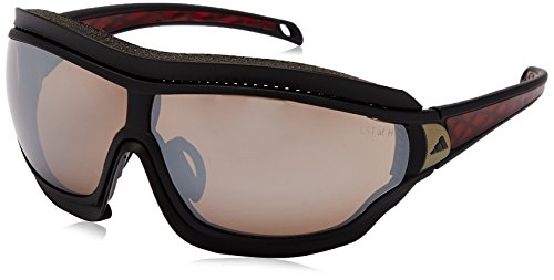 - adidas Tycane Pro Outdoor S A197 6050 Rectangular Sunglasses, Black Matte & Red, 74 mm