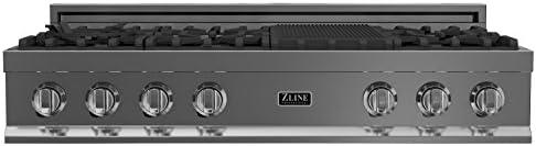 Amazon.com: zline 48 en. rangetop Set con 8 quemadores de ...