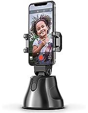 مثبت بحامل للهاتف الذكي من اباي جيني يدور 360 درجة بخاصية التتبع التلقائي للوجه والاجسام والاشياء والتقاط الصور ومدونات الفيديو بعصا محمولة لصور السيلفي للموبايلات التي تعمل بنظام IOS واندرويد