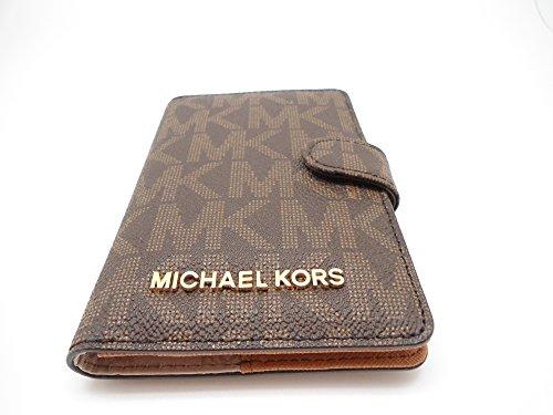 cdd83fc50eb92 Michael Kors Jet Set Travel Passport Case Wallet Brown Acorn 0089