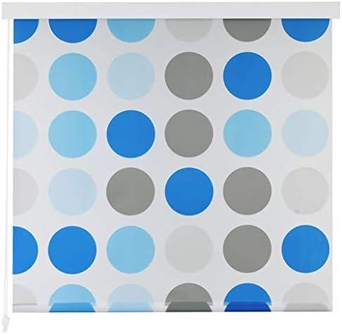 Festnight Cortina de Ducha Enrollable Persiana de Ducha Blanco Separador de Habitaciones para Baño con Diseño de Círculos 80x240cm: Amazon.es: Hogar
