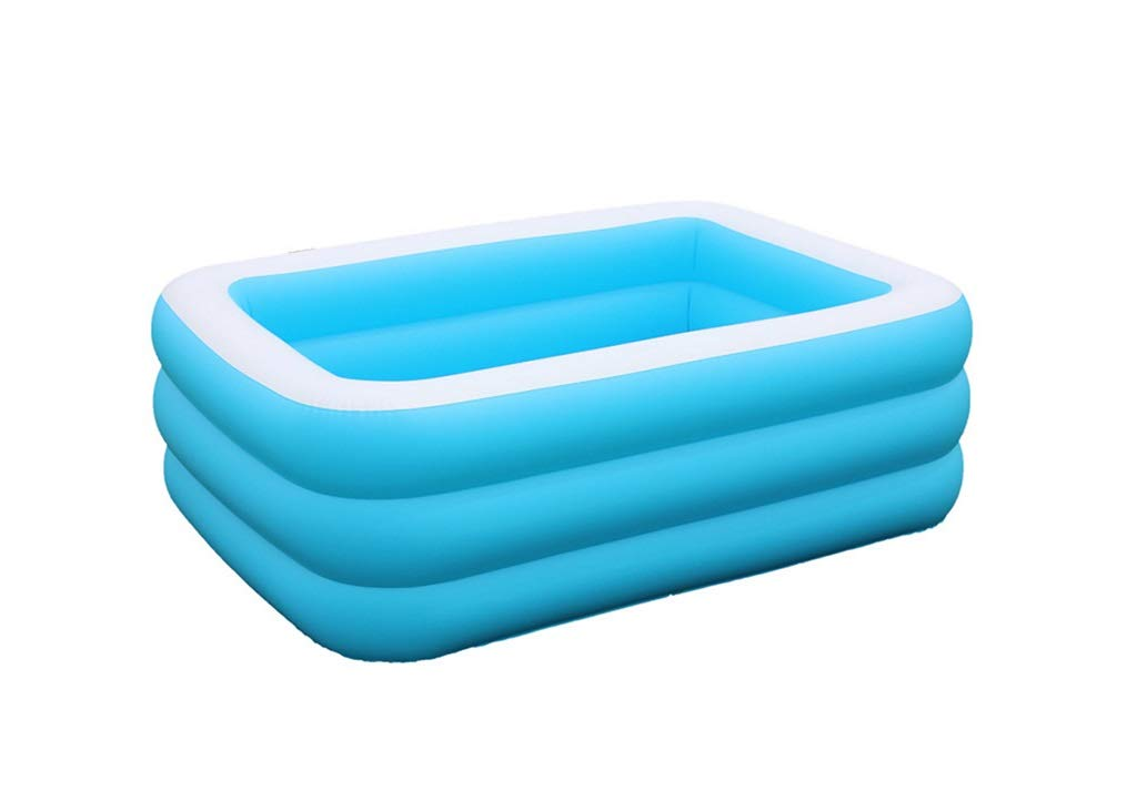 ZMM® Inflatable Bathtub, Environmental Protection Thicken Oversized Adult Swimming Pool Bathtub Child Family Inflatable Swimming Pool Infant Ball Pool Blue and White 110 * 90 * 46cm