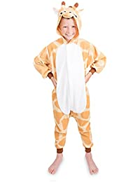 Emolly Kids Giraffe Onesie Animal Pajama Costume - Soft and Comfortable With Pockets! Fun As a Costume or Pajamas - 5% Of Sales Donated To San Diego Zoo Global Wildlife conservancy