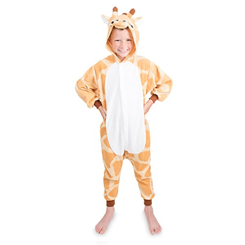 Kids Giraffe Onesie Animal Pajama Costume - Soft and Comfortable with Pockets (Giraffe Soft Costume)