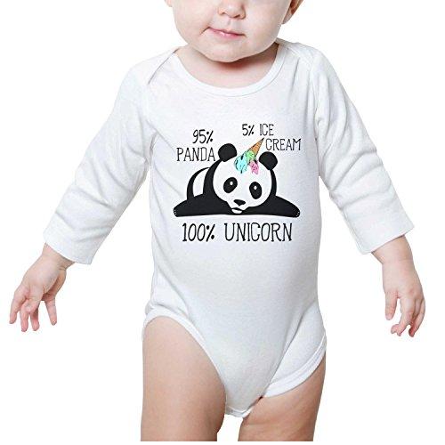 M2VIK9 Baby Romper Long Sleeve Clothes Jumpsuit Ice Cream Panda Unicorn Bodysuit Playsuit Outfits