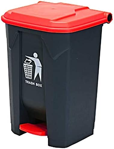NJIUHB Papelera al aire libre, tipo pedal de plástico, para hogar, cocina, jardín, centro comercial, exterior, cocina de hotel, cubo de basura de 68 litros: Amazon.es: Hogar