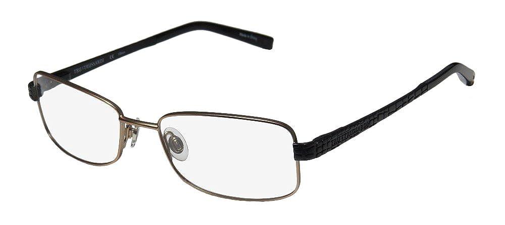 3042668354 Amazon.com  Trussardi 12706 Mens Womens Designer Full-Rim Shape Spring  Hinges Stunning Spectacular Ladies Eyeglasses Eyewear (52-17-135