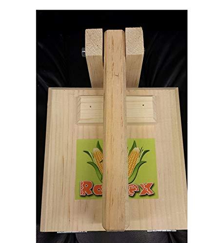 "Square Wood 9"" Manual Tortilla Maker Press Wooden Handle Body Simple Design for flower corn tortillas sugar pancakes gorditas savory Christmas crispiest bunuelos."