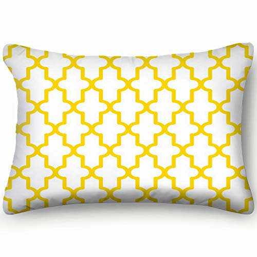 X-Large Geometric Patter Design Modern Pattern Beauty Fashion Two Side Decorative Pillowcase Queen Zippered Throw Pillow Case Cushion Cover 20 X 36 Inch