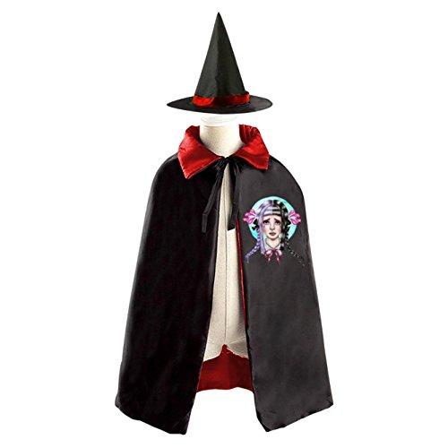 Melanie Martinez Cry Baby Halloween Wizard Witch Kids Cape With Hat Party Cloak