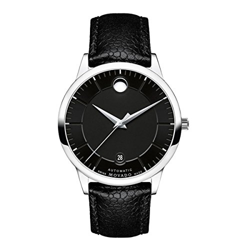 Movado 1881 Automatic Black Dial Mens Watch 0607019