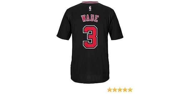 fe9601f0ebf Amazon.com   Dwayne Wade Chicago Bulls Adidas Alternate Swingman Jersey ( Black) XL   Sports   Outdoors