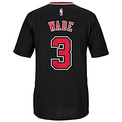 fd16994067c Dwayne Wade Chicago Bulls Adidas Alternate Swingman Jersey (Black) XL