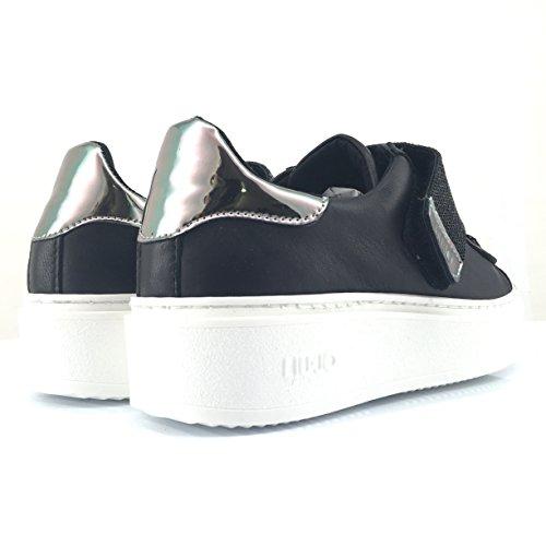 Liu Jo S17135P0273 Naoko scarpa donna stringata in pelle nera con strass