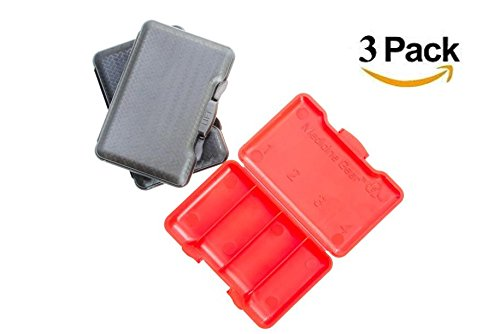 Slim Traveler Pill Box - small pill case for travel, purse, bag, pocket (3 Pack, Grey, Red, Black) by Medicine Gear (Image #9)