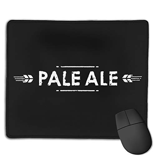 Pale Ale Mouse Pad with Stitched Edge, Premium-Textured Mouse Mat, Non-Slip Rubber Base Mousepad for Laptop, Computer & ()