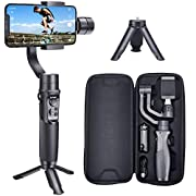 #LightningDeal Hohem Smartphone Gimbal 3-Axis Handheld Stabilizer for iPhone 11/11Pro/Max/Xs/Xs Max/Xr/X, for Android Smartphones, Samsung Galaxy S10/S10 Plus/Note 9/Plus, for Youtuber/Vlogger (iSteady Mobile Plus)