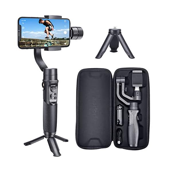 Hohem iSteady Mobile Plus - 3-Axis Handheld Gimbal Stabilizer, Supports Max. 280G, 600 Degrees Roll Inception Mode, Auto Face Tracking, which can Work with iPhone 11 Pro Max and Android Smartphones. 1