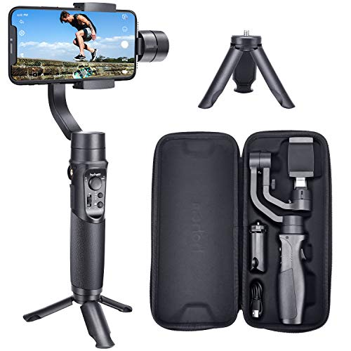 (Hohem Smartphone Gimbal Stabilizer 3-Axis Handheld iPhone stabilizer for Xs Max Xr X 8 Plus 7 6 iPhone Gimbal Stabilizer iPhone gimble for Galaxy S9+ S9 S8+ S8 S7 S6 Q2 Edge (iSteady Mobile Plus))