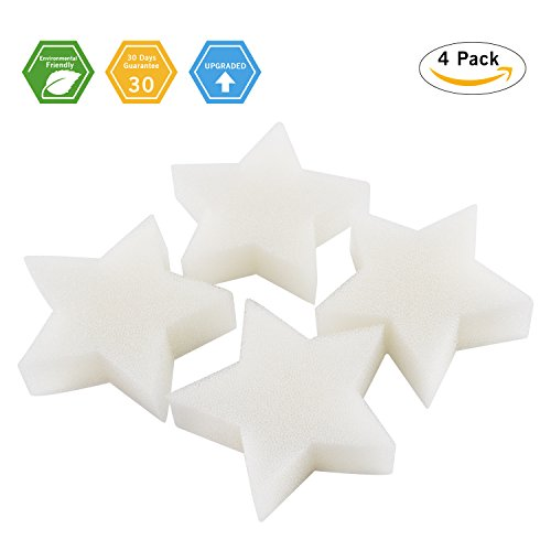 Scum Star Oil Absorbing Sponge- Cyprapid 2018 New Design Perfect for Collecting Oil, Scum, Slime, Grime, Lotion, Pollen & Bugs from Swimming Pool, Spas, Hot Tubs and SPA Tub (Pack - Star Accessory