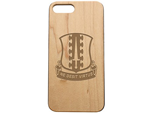 NDZ Performance Custom Wooden Phone Case for Apple iPhone 7 & iPhone 8 Plus Maple Wood Engraved: 187th Infantry Coat of Arms
