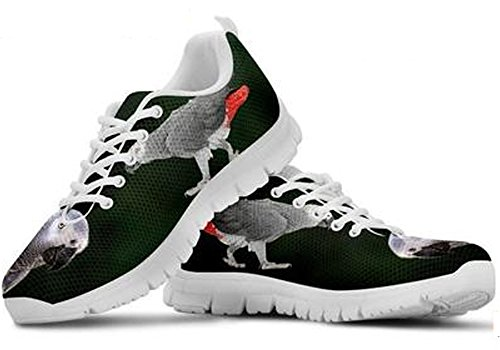 Brand 5 Print Grey African 7 Parrot Sneakers Cute Men's Casual SwFSqnrza