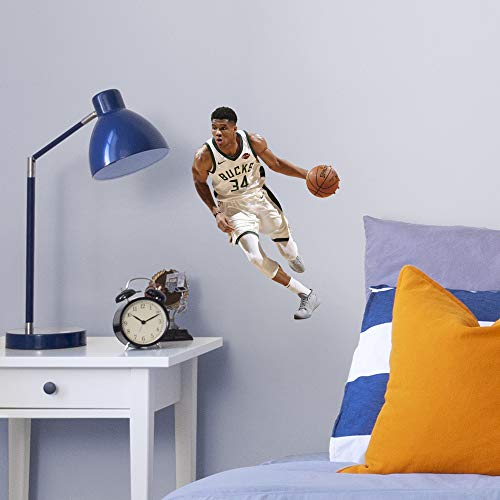 FATHEAD NBA Milwaukee Bucks Giannis Antetokounmpo Officially Licensed Removable Wall Decal, Multicolor, Large