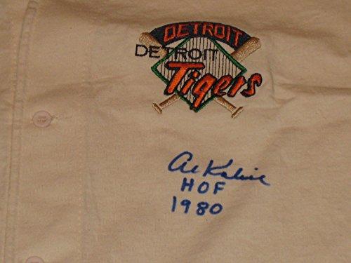 Al-Kaline-Autographed-Detroit-Tigers-The-Game-Baseball-Jersey-COA