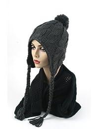 Women's Trapper Knit Winter Ear Flap Hat P212