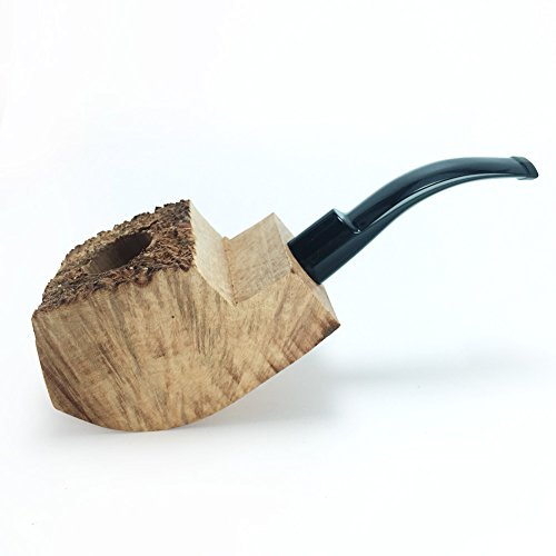 (Tobacco Pipe Mediterranean Briar Wood Block - Semi-Finished Tobacco Pipe -Style 9)
