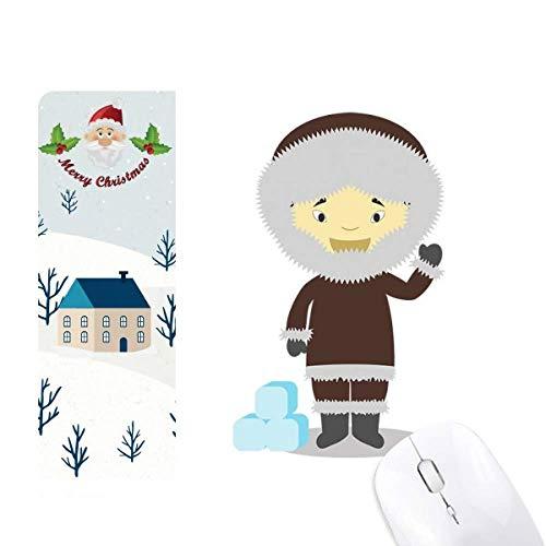 Cold Jacket Greenland Cartoon Santa Claus House Mouse Pad Gift
