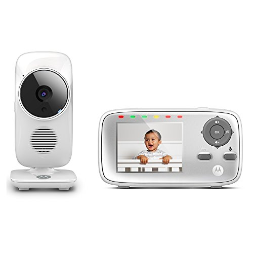 Motorola MBP483 2.8 Video Baby Monitor with Digital Zoom, Two-Way Audio and Room Temperature Display