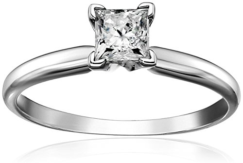 Princess Solitaire White Engagement Clarity