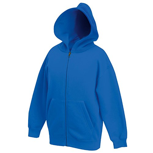 Fruit of the Loom Kids Zip Hooded Sweat Jacket - Ages 5 to 15 Year - Royal - 911