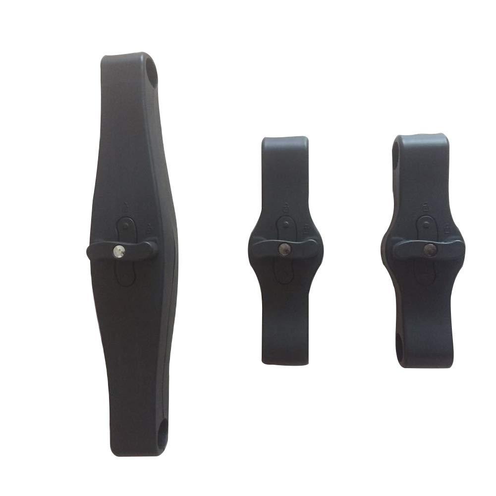 3pcs Insert Into Stroller Connector Accessories Pram Twins Coupler Bush for YOYO(Black)
