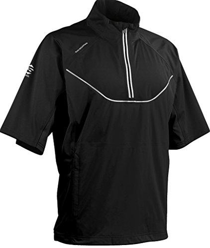 (Sun Mountain 2017 Men's Tour Series Short-Sleeve Pullover (Black, XL))