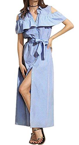 Buy light blue ruffle dress - 5