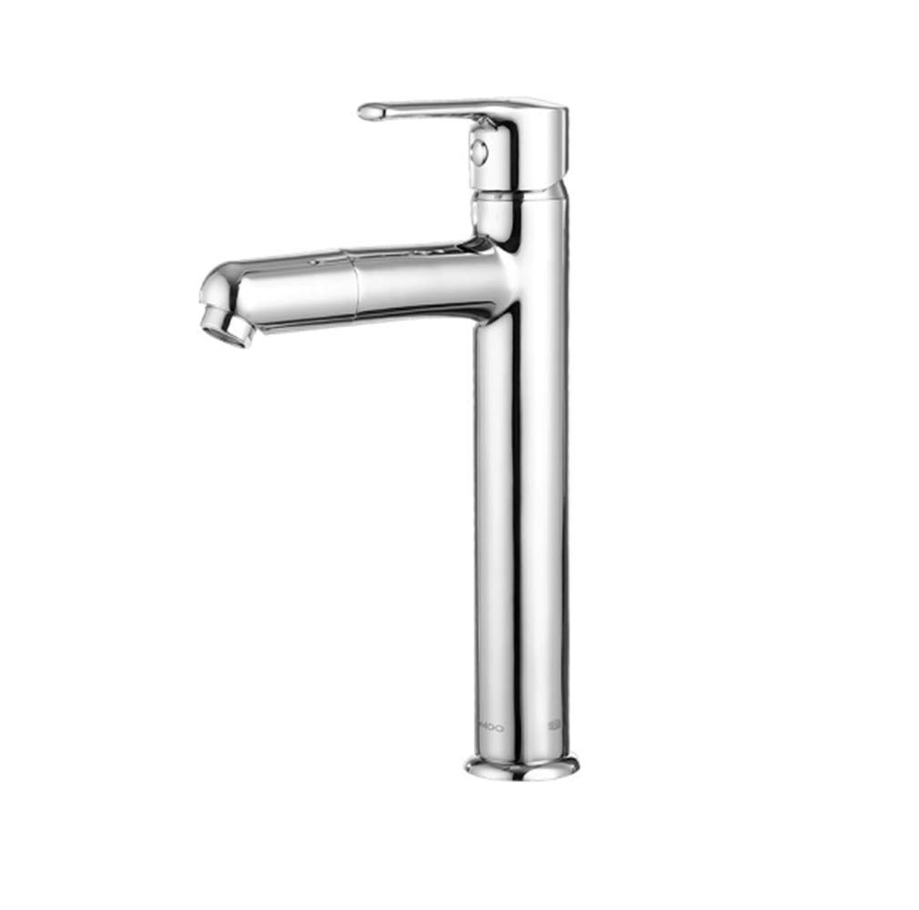 Kitchen Taps Faucet Modern Kitchen Sink Taps Stainless Steel360 redary Faucet Table Basin Cold and Hot Water-Saving Faucet