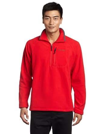 Columbia Mens Fast TrekTM II 1/2 Zip Fleece-Bright Red, Small